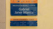"""LA BIBLIOTECA D'ALGAIDA PASSA A DUR EL NOM DE """"GABRIEL JANER MANILA"""""""