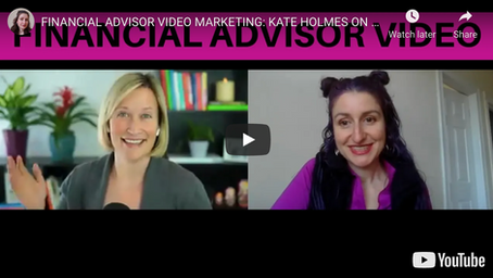 Kate in the Guest Seat: Financial Advisor Video Marketing on Sara Grillo's Show