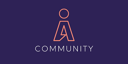 Community in orange with purple backroun