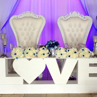 Love Table for Bride and Groom Wedding