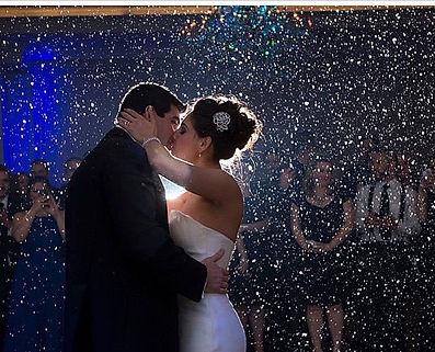 Snow machine for weddings, snow machine for first dance, snow machine dj, snow nj dj, winter wonderland wedding
