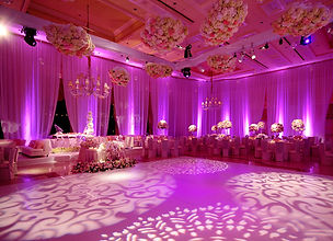 Wedding Up Lighting White Dance Floor Pin Spots Drape