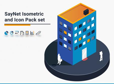 SayNet Isometric & Icon Pack Set