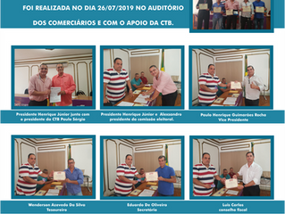 NOVA DIRETORIA ELEITA PARA EXERCER O MANDATO DO SIMCAERJ QUE FOI REALIZADA NO DIA 26/07/2019
