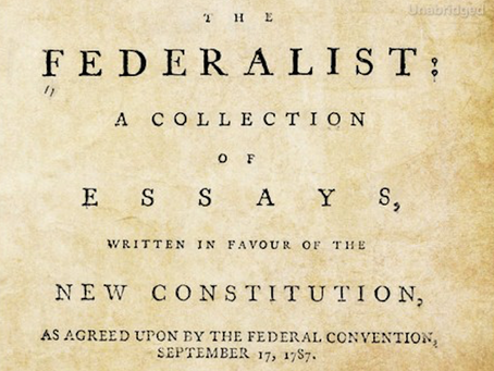 The Federalist Papers | 1-10, 15, 31, 47, 51, 68-71