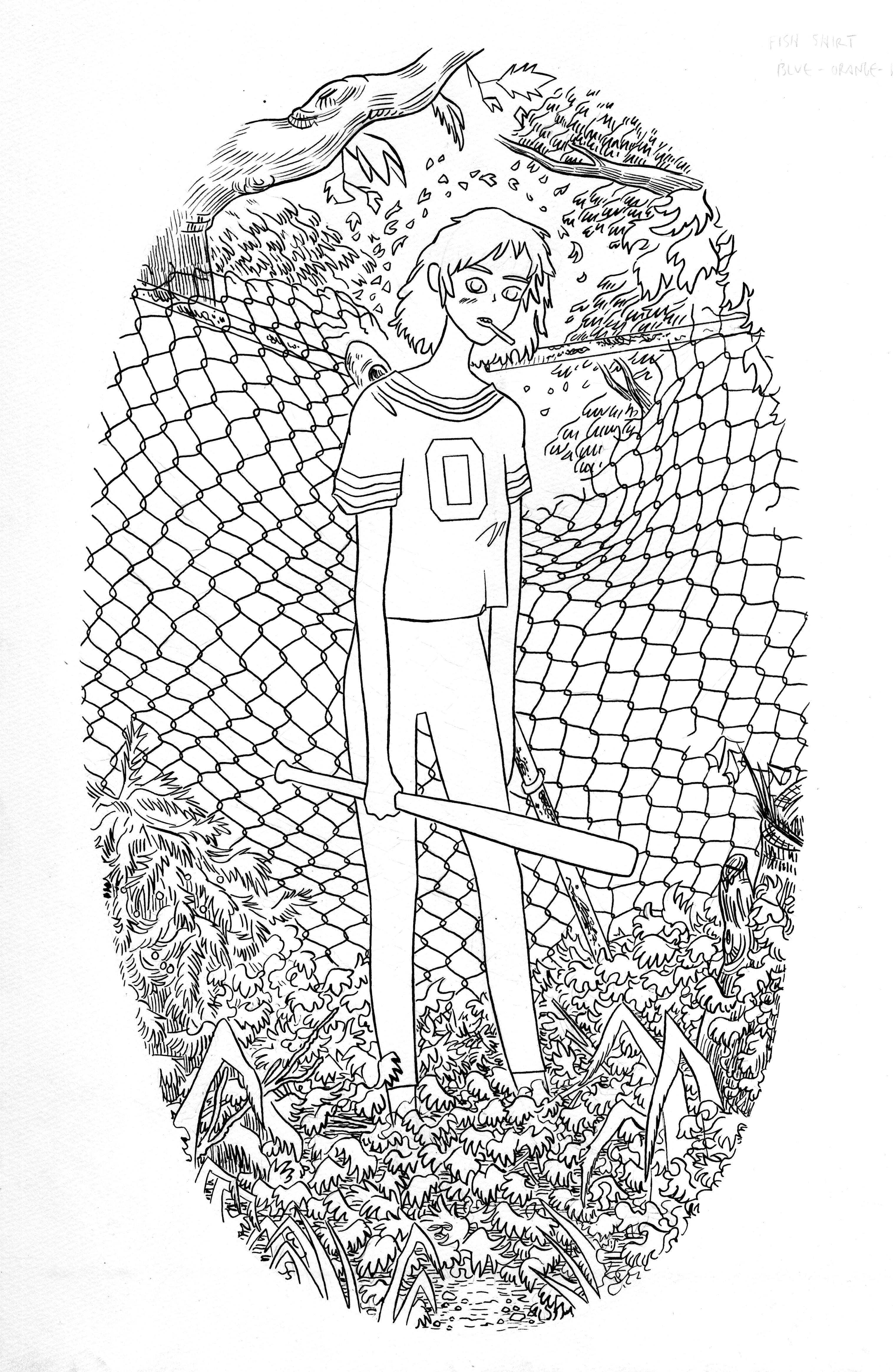 No Trespassing (line art)