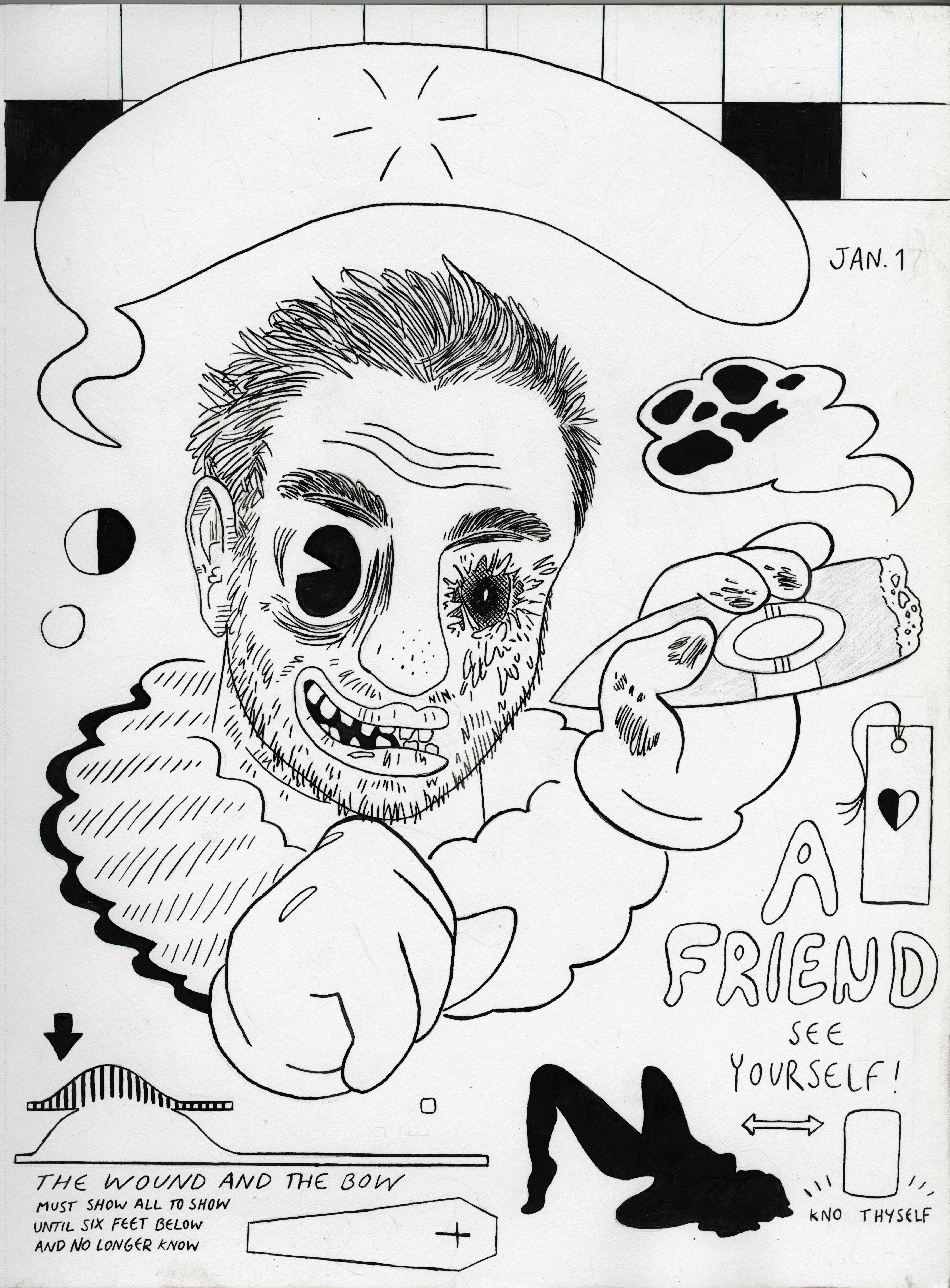 Self Portrait (line art)