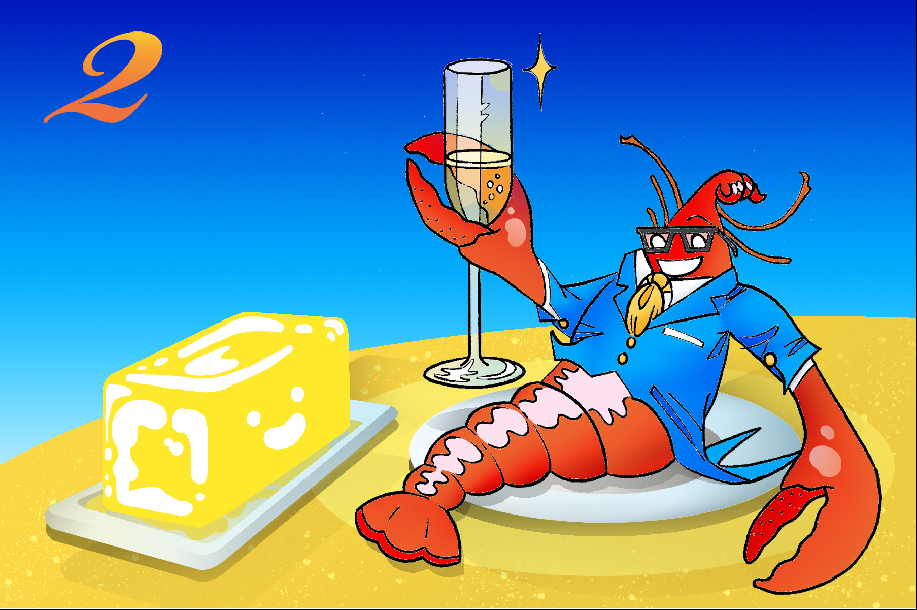 Malibu Seafood Lobster (Commission)