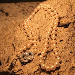 Collana di perle con chiusura in diamanti
