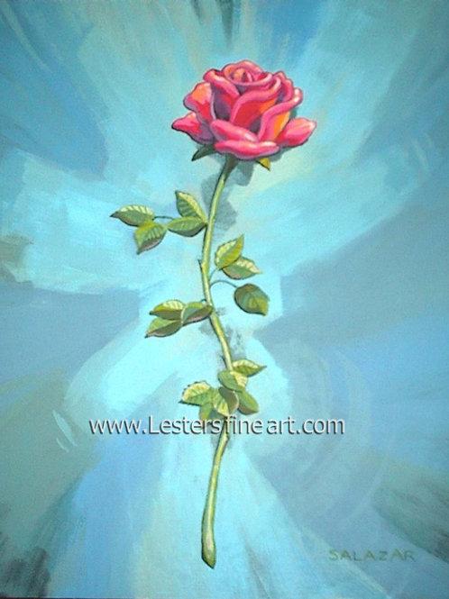 "Rose,   Acrylic, 20""x16"""