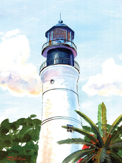 Key West Lighthouse,  matted