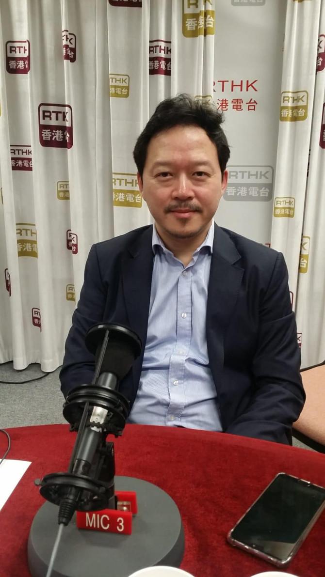 """張俊勇出席香港電台""""Backchat""""節目"""