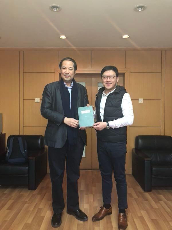 張俊勇先生拜訪清華大學