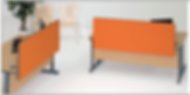 Smarty backdrop orange desk dividers showing 2 desk separator panels