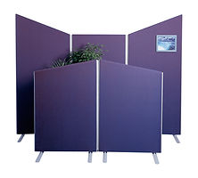 5 made to measure office dividers with plant and wavetop design