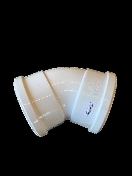 White 45 Degree Double Socket White Bend