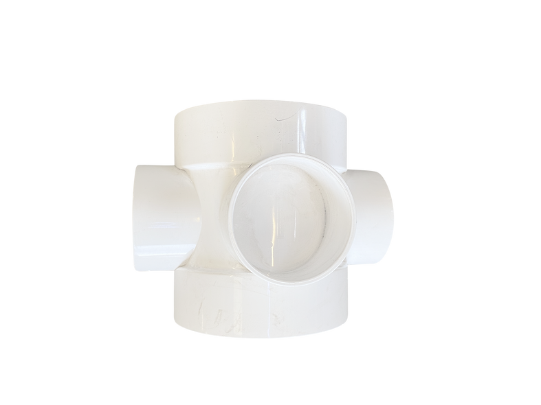 110mm short boss pipe white