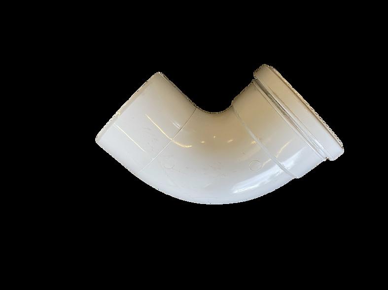 White 90 Degree single Socket 110mm bend