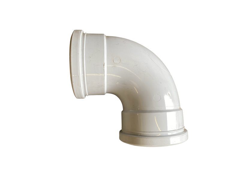 White 90 Degree Double socket bend 110mm