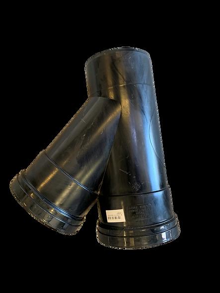 Black 45 Degree Double Socket Junction