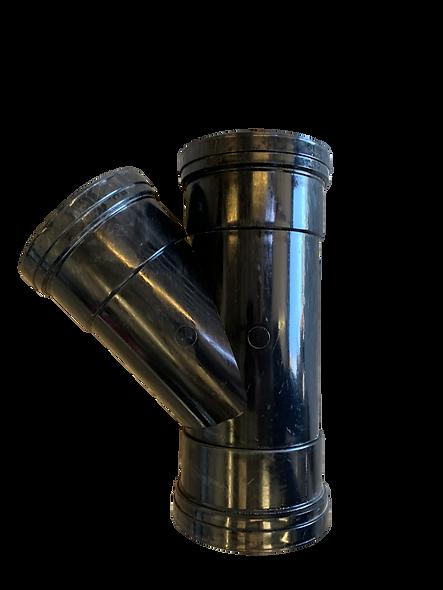 Triple socket Junction 45° (black)