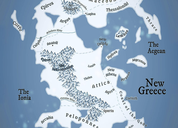 Map of New Greece