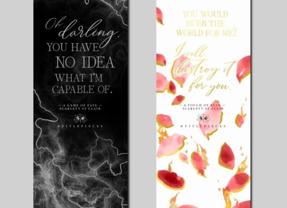 Hades x Persephone Double-Sided Bookmarks