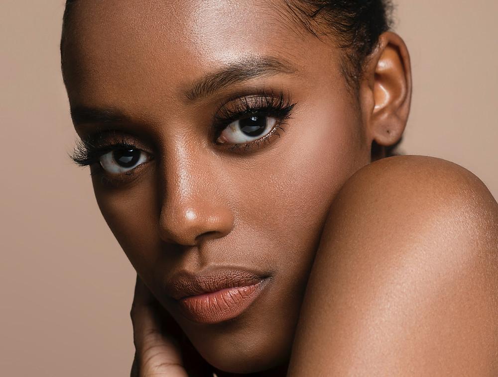 black woman, afro-caribbean, clear skin, skin, squalane, squalene, plant-derived, serum, oil, organic, oil, skincare