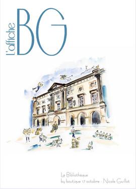 Affiche BG 2020 - La Bibliothéque -Nicole Guillot