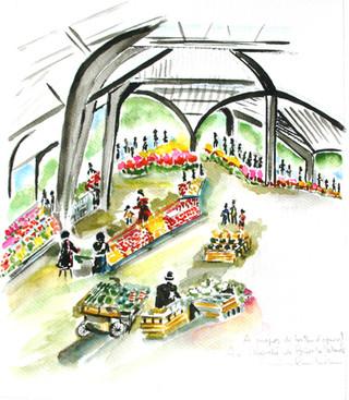 Le marché de Brive-la-Gaillarde