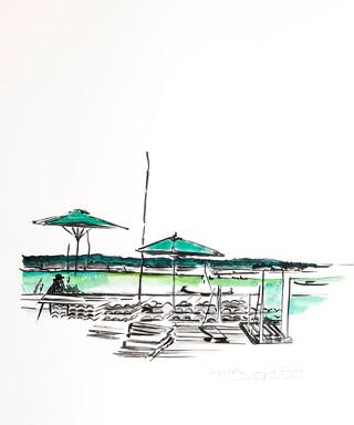 Les Tuiles chaulées au Mimbeau Cap Ferret