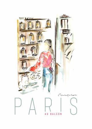 Paris au balcon rose