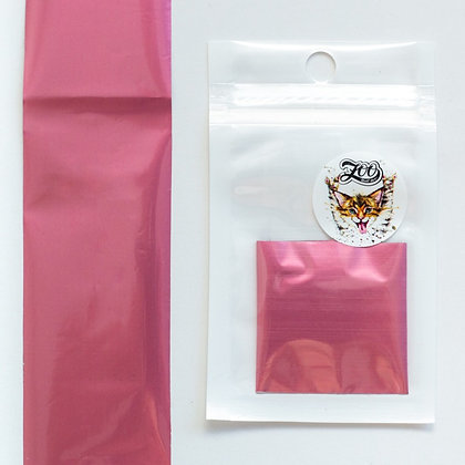 Фольга переводная Zoo №1620 матовая розовая