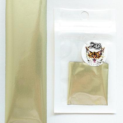 Фольга переводная Zoo №1619 матовая белое золото