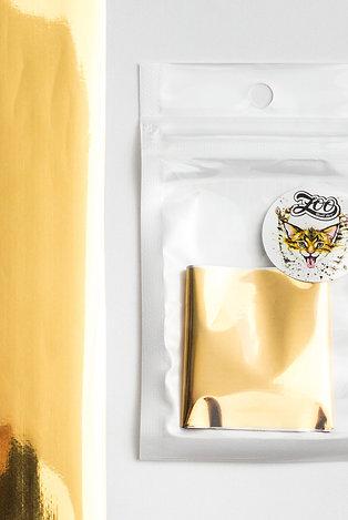Фольга переводная Zoo №1536 глянцевая светлое золото