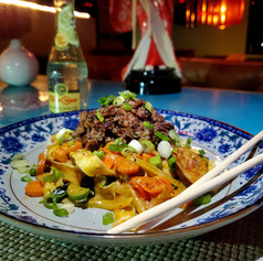 Coconut Milk Noodle with Braised Oxtail