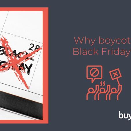 why boycott black friday?
