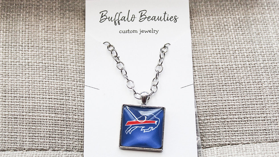 Blue bills neckalce