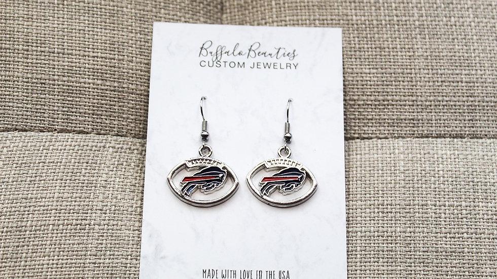 Buffalo Bills Football Earrings