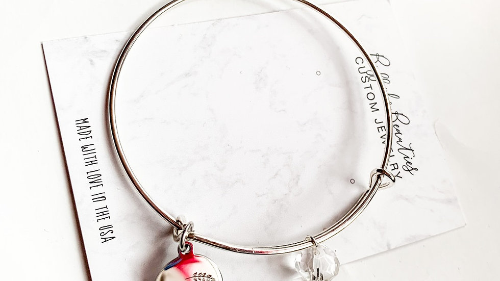 Be happy charm bracelet
