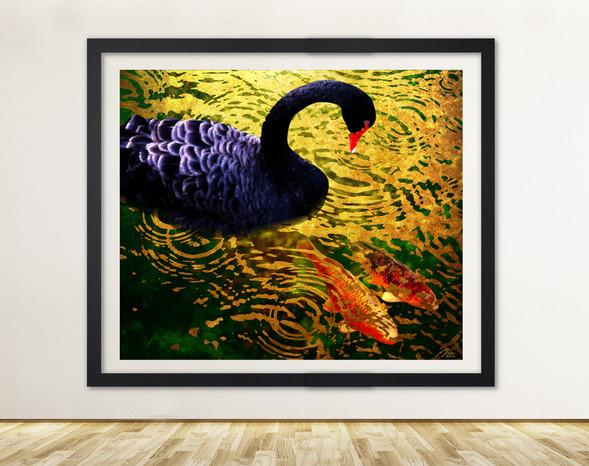 Byodo Temple Swan