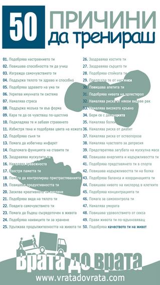 50 причини да тренираш