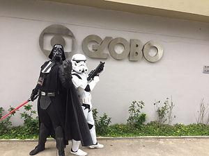 Animação de Festa com os personagens de Star Wars