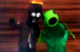 Animação Festa com os personagens de Plants vs Zombies