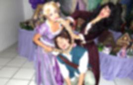 Animação de Festa com os personagens de Rapunzel (Enrolados)