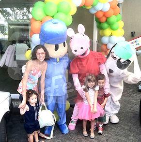 Animação de Festa com os personagens de Discovery Kids