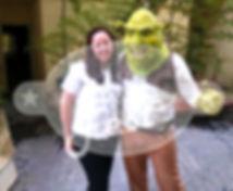 Animação de Festa com os personagens de Shrek