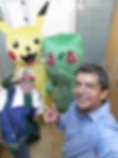 Animação de Festa com os personagens de Pokemon
