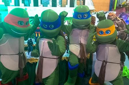 Animação de Festa com os personagens de As Tartarugas Ninja