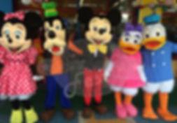 Animação de Festa com os personagens de Turma do Mickey